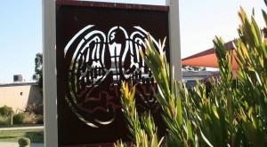 School emblem sign