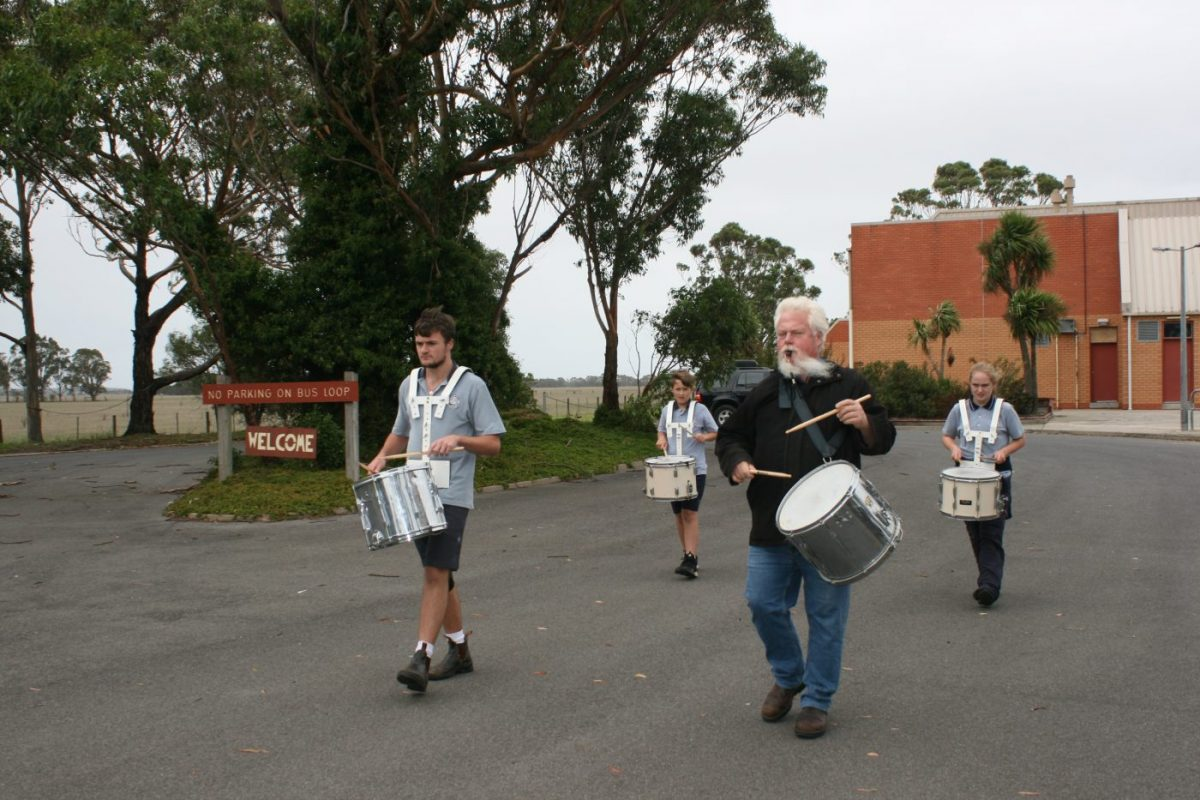 ANZAC drummers